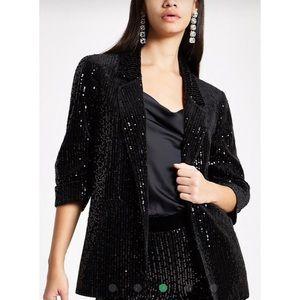 Open Front Sequins Jacket